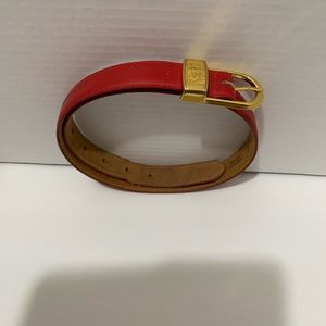 Anne Klein Red Leather Belt
